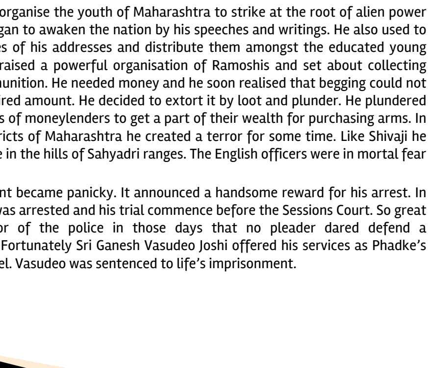 He decided to organise the youth of Maharashtra to strike at the root of alien