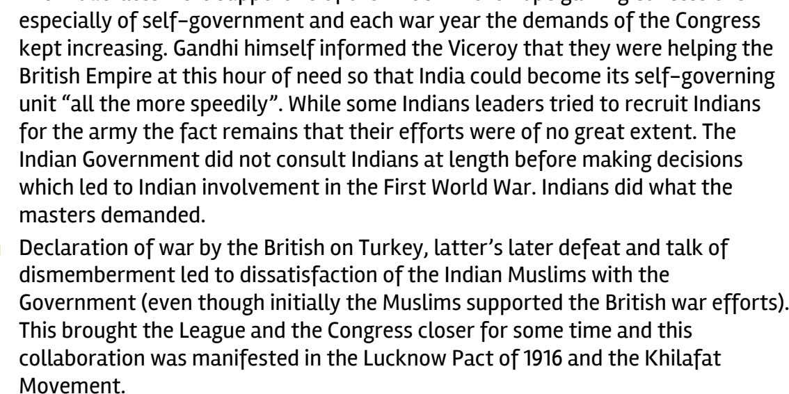 Congress closer for some time and this collaboration was manifested in the Lucknow Pact of 1916