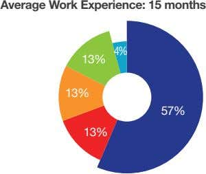 Average Work Experience: 15 months 4% 13% 13% 57% 13%
