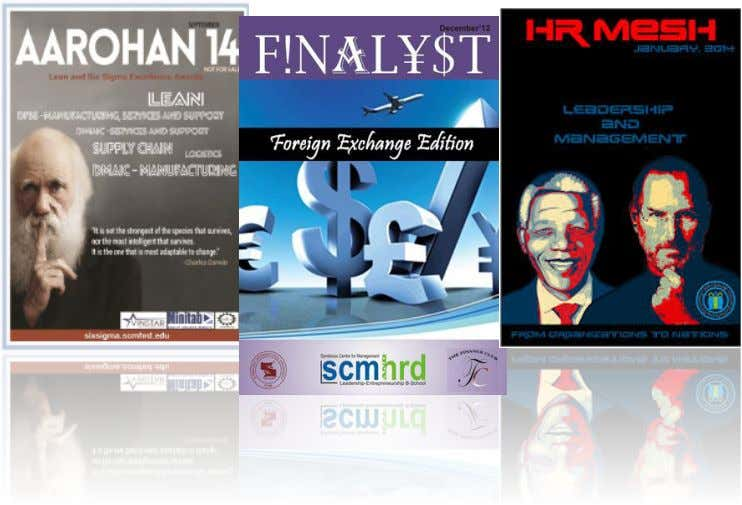 RESEARCH & PUBLICATIONS KEY PUBLICATIONS  'Finalyst' is a magazine published every two months by the