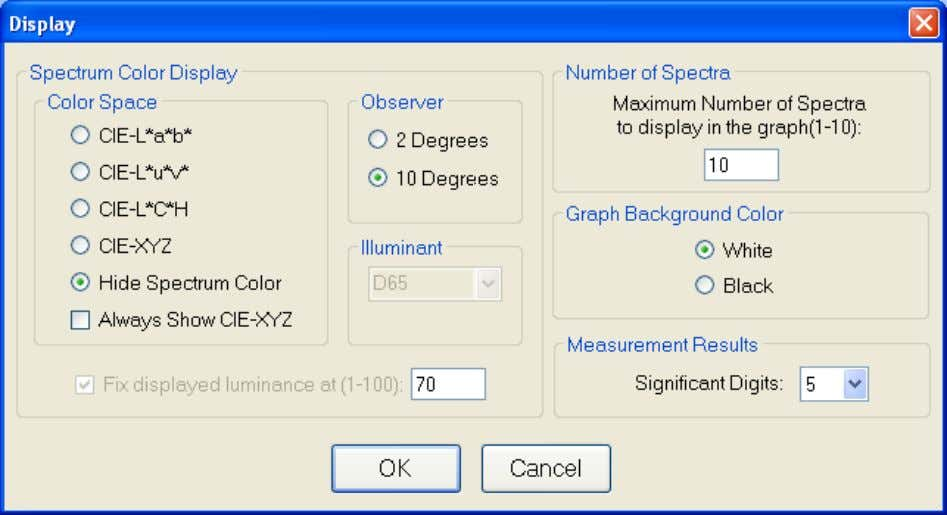 Not all options are available with all systems. Display Spectrum Color Display: Color Space The color