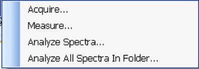 on groups of spectra, rather than each individual spectrum Acquire > Batch > Acquire This option