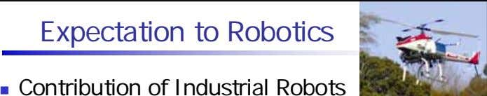 Expectation to Robotics Contribution of Industrial Robots