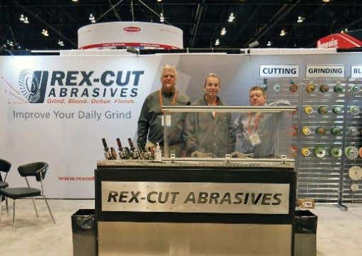 This recent photo at the company's booth during FABTECH shows (from left) Claude Gelinas, chairman