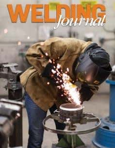 M. Miller , Ex Officio, American Welding Society On the cover: Metropolitan Community College Welding Student