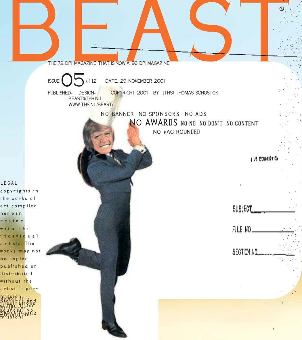 BEAST A THE 72 DPI MAGAZINE THAT IS NOW A 96 DPI MAGAZINE ISSUE 05