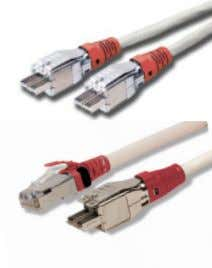 plug LS0H cable assembly, ivory jacket, colored boot, T568A T1-(XX)M-B(XX)L Category 7A compatible, 1-pair TERA-to-TERA