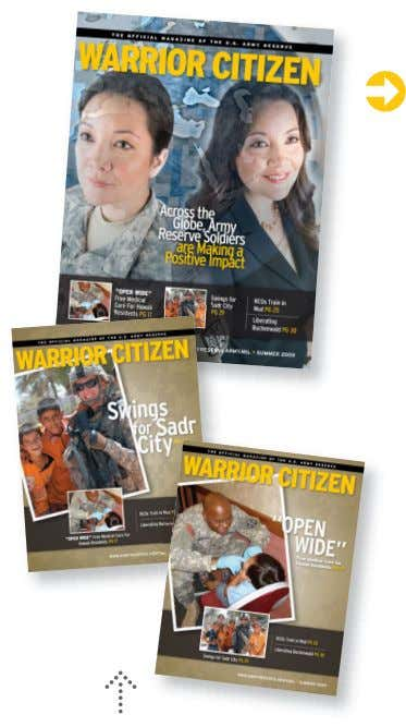 WARRIOR CITIZEN MAGAZINE BACKGROUND AND RECOMMENDATIONS FOR MOVING FORWARD Warrior Citizen Magazine is a vehicle by