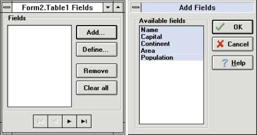 "The TField Object "" in the June 1995 Delphi Informant .] Figure 2: The Fields editor"