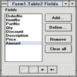 dialog box should look like the one shown in Figure 7 . Figure 7: Fields instantiated
