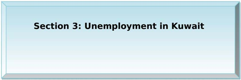 Section 3: Unemployment in Kuwait