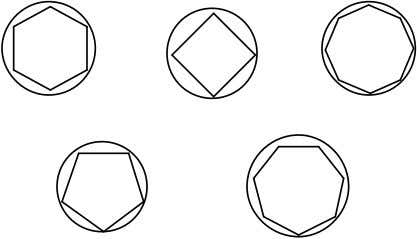 Sample polygons – illustrate Huckel's Rule