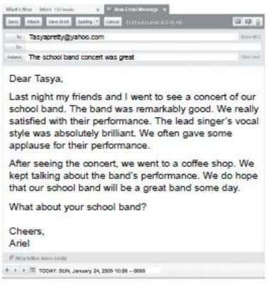 41. When was the concert of Ariel's school band?