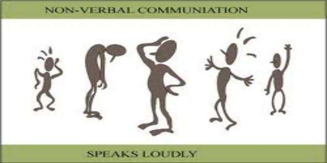 "nonverbal communication . • ""Action Speaks Louder than Words"". • ""Body language is more honest than"