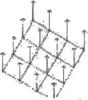 its repetitive and pervasive geometry.     The square grid, when projected into the third dimension,