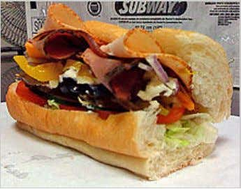 Sandwich SUBWAY Club 6""