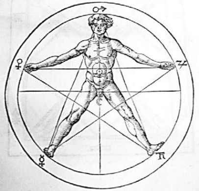 Heinrich Cornelius Agrippa, Image of a human body in a pentagram from LibriTres de Occulta