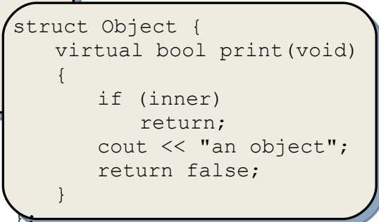 region inner; // Restore clipping region { } }; struct Object { virtual bool print(void) if