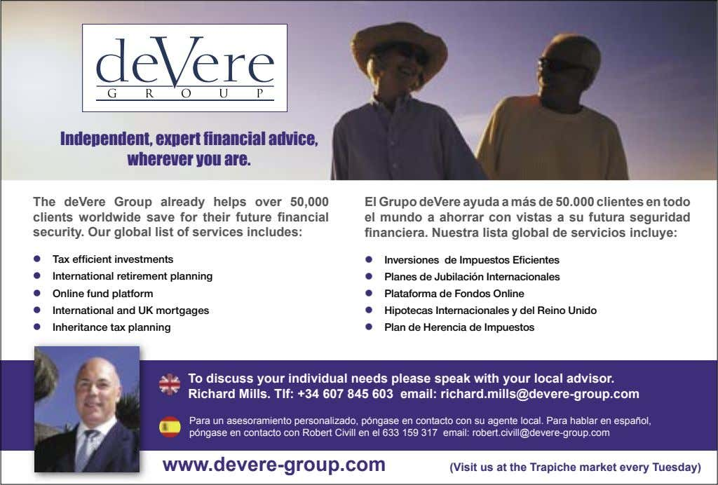 Independent, expert financial advice, wherever you are. The deVere Group already helps over 50,000 clients