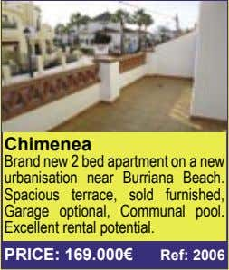 Chimenea Brand new 2 bed apartment on a new urbanisation near Burriana Beach. Spacious terrace,