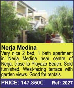 Nerja Medina Very nice 2 bed, 1 bath apartment in Nerja Medina near centre of