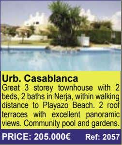 Urb. Casablanca Great 3 storey townhouse with 2 beds, 2 baths in Nerja, within walking