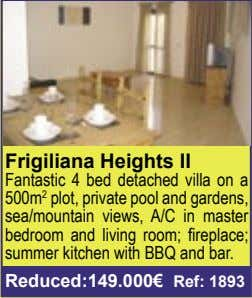 Frigiliana Heights II Fantastic 4 bed detached villa on a 500m 2 plot, private pool