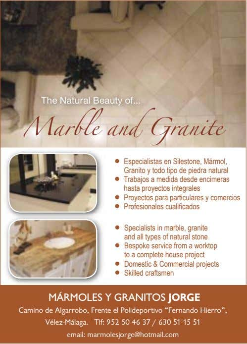 The Natural Beauty of Marble and Granite l Especialistas en Silestone, Mármol, Granito y todo