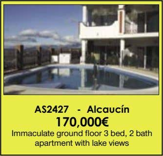 AS2427 - Alcaucín 170,000€ Immaculate ground floor 3 bed, 2 bath apartment with lake views