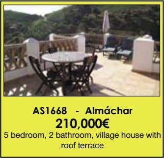AS1668 - Almáchar 210,000€ 5 bedroom, 2 bathroom, village house with roof terrace