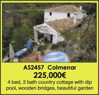 AS2457 Colmenar 225,000€ 4 bed, 2 bath country cottage with dip pool, wooden bridges, beautiful