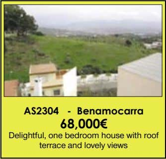 AS2304 - Benamocarra 68,000€ Delightful, one bedroom house with roof terrace and lovely views