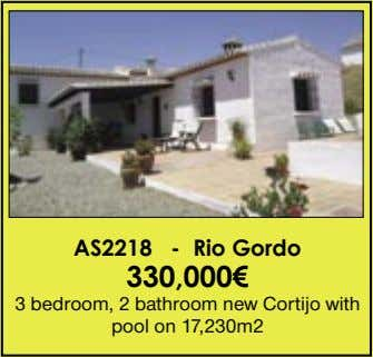 AS2218 - Rio Gordo 330,000€ 3 bedroom, 2 bathroom new Cortijo with pool on 17,230m2