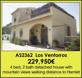 AS2362 Los Ventorros 229,950€ 4 bed, 2 bath detached house with mountain views walking distance