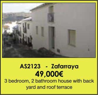 AS2123 - Zafarraya 49,000€ 3 bedroom, 2 bathroom house with back yard and roof terrace
