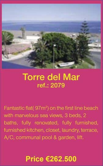 Torre del Mar ref.: 2079 Fantastic flat( 97m 2 ) on the first line beach