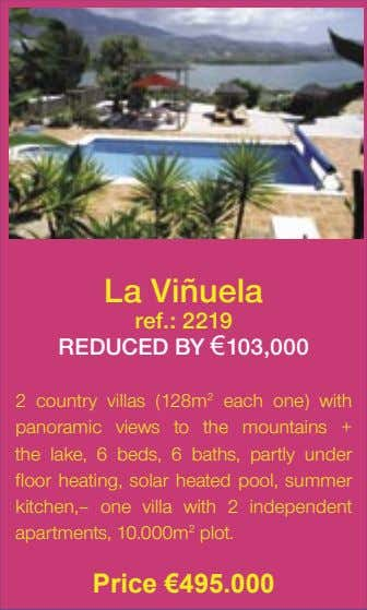 La Viñuela ref.: 2219 REDUCED BY €103,000 2 country villas (128m 2 each one) with