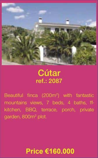 Cútar ref.: 2087 Beautiful finca (200m 2 ) with fantastic mountains views, 7 beds, 4