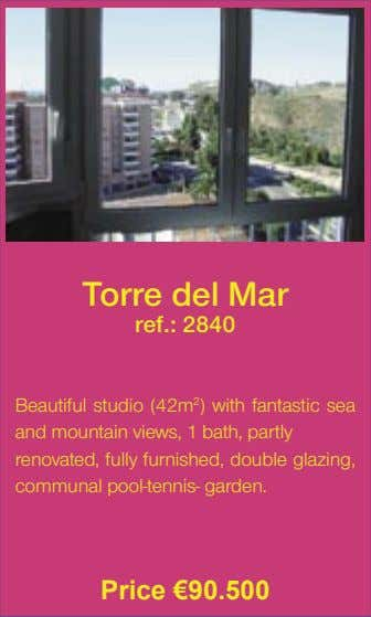 Torre del Mar ref.: 2840 Beautiful studio (42m 2 ) with fantastic sea and mountain