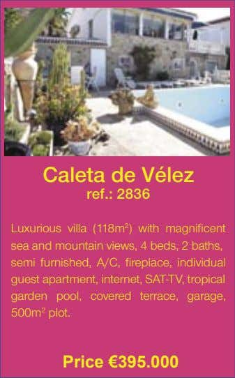Caleta de Vélez ref.: 2836 Luxurious villa (118m 2 ) with magnificent sea and mountain