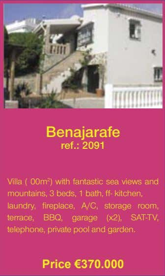 Benajarafe ref.: 2091 Villa ( 00m 2 ) with fantastic sea views and mountains, 3