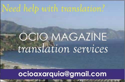 Need help with translation? OCIO MAGAZINE translation services ocioaxarquia@gmail.com