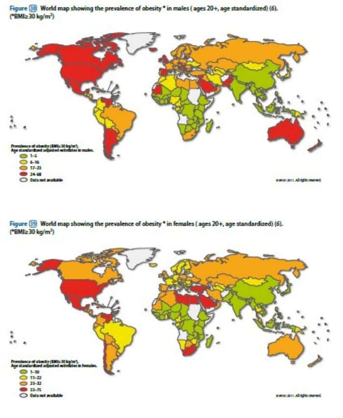 Global Prevalence of Obesity, WHO 2011