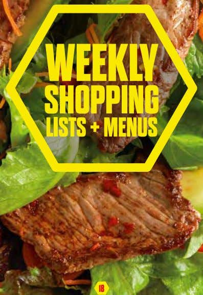 WEEKLY SHOPPING LISTS + MENUS 18