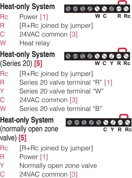 Heat-only System Rc Power [1] W C R Rc R [R+Rc joined by jumper] C