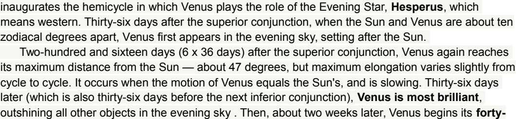 inaugurates the hemicycle in which Venus plays the role of the Evening Star, Hesperus, which means