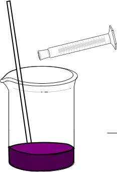 ten min- utes. The mixture may develop a purple colour. 4. Stirring with a glass rod,