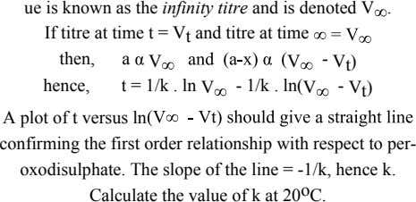 ue is known as the infinity titre and is denoted V If titre at time