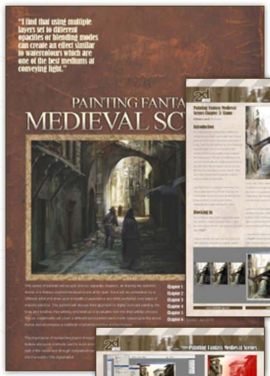 to purchase the Full Issue click here 7 PaintingFantasy MedievalScenes www.2dartistmag.com page 21 Issue 051 March