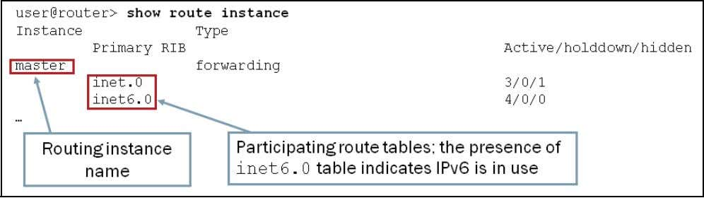 imitate multiple devices. Master Routing Instance The Junos OS creates a default unicast routing instance